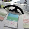 Painting in Golf Cart on Beautiful Harbour Island. 2012