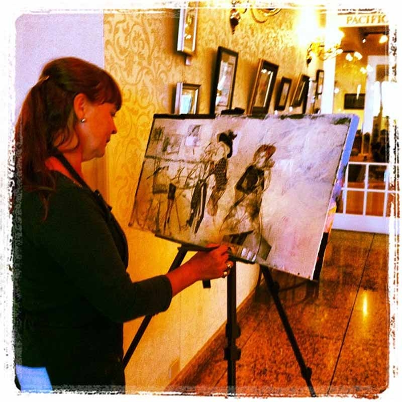 Painting at hotel grand pacific