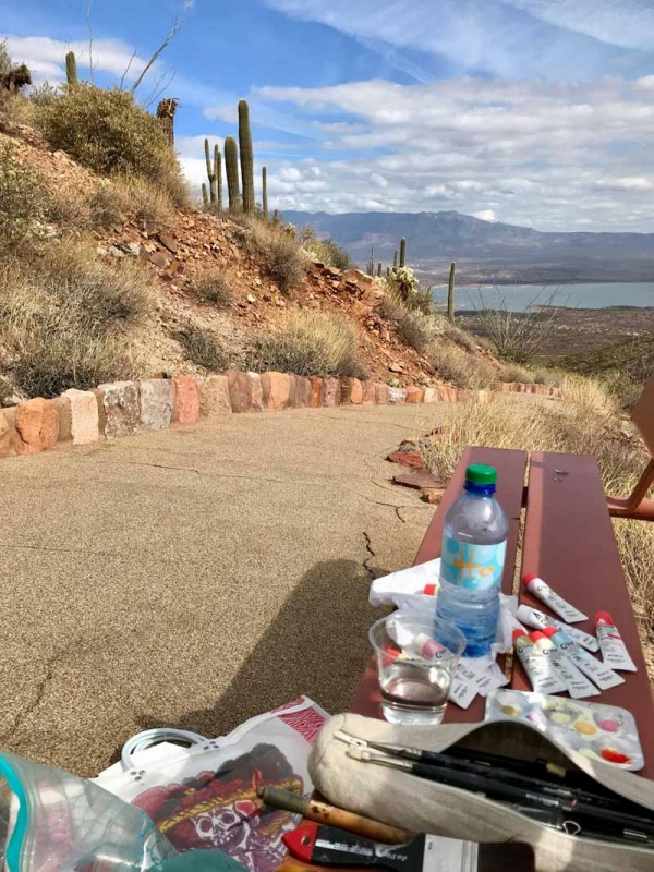 Painting in Tonto National Park AZ