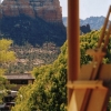 Painting on the deck of motel, Sedona, AZ