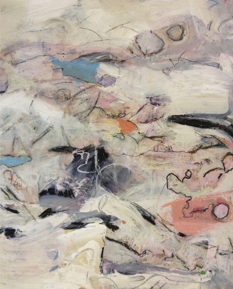 I Love the Desert, acrylic & mixed media on board, 20X24