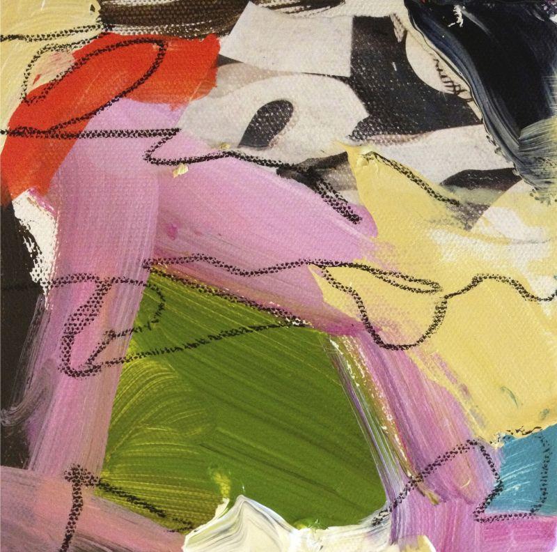 Juicy Colors, acrylic & mixed media on canvas, 6X6€ unframed