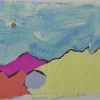 The Desert of Palm Springs Series, gouache on handmade paper, 6X6€ framed & unframed